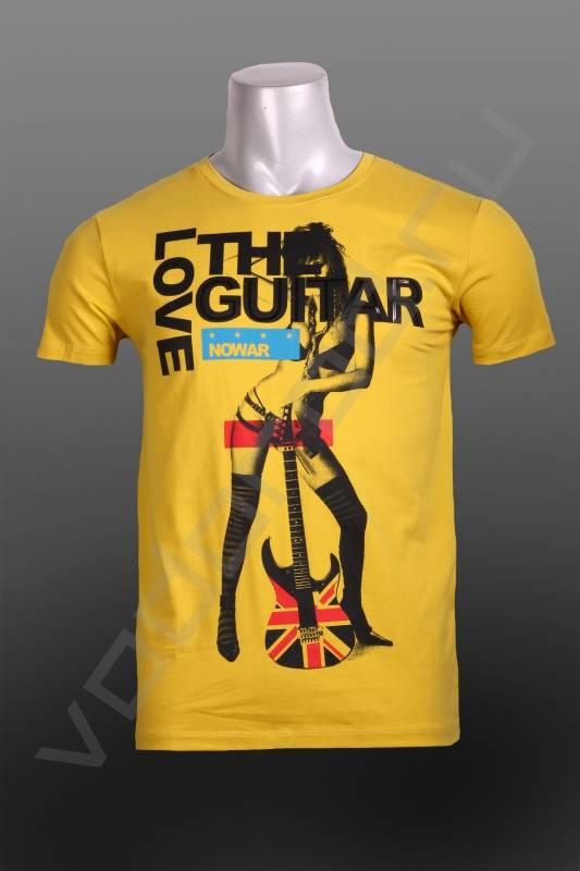 ФутболкаФутболки и поло<br>Супер модная мужская футболка, 100% хит сезона, яркий актуальный модный принт, стрейч, приталенная.<br><br>Цвет: желтый<br>Размер INT: M,XL,2XL<br>Пол: Мужской