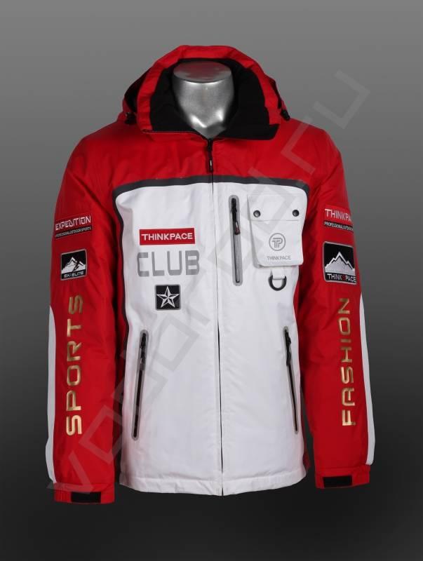 ПуховикВерхняя одежда<br>Супермодный стильный яркий спортивный пуховик, лучший тренд наступающего сезона! Безупречное качество, красивая комбинация цвета. Пуховик имеет проклеенные швы и молнии, эластичные манжеты внутри, и регулируемые манжеты снаружи липучкой, съемный капюшон.<br><br>Цвет: Белый/красный<br>Размер INT: S,L<br>Пол: Мужской