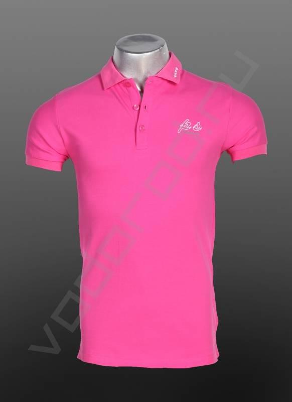 ПолоФутболки и поло<br>Мужская футболка поло, стильная, приталенная, с воротничком на трех пуговицах, спокойные расцветки, классического кроя.<br><br>Цвет: розовый<br>Размер INT: M,L<br>Пол: Мужской