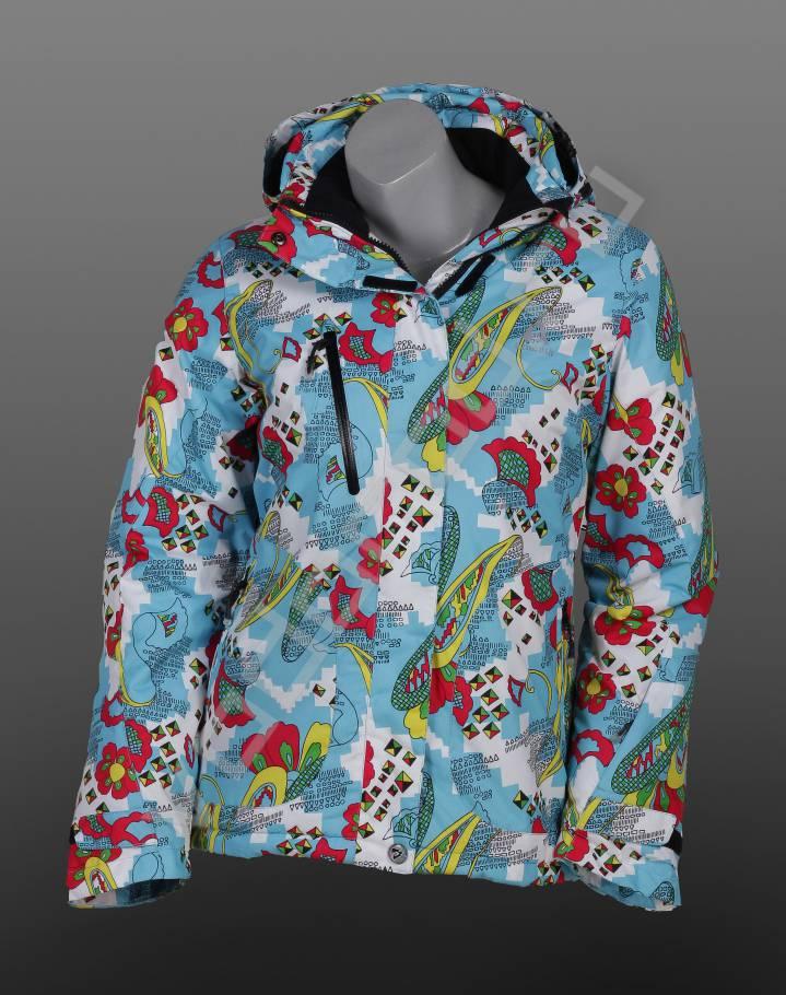 Горнолыжная курткаГорнолыжная одежда<br>Стильная женская горнолыжная куртка, мембранная ткань, слегка приталенная, скользящие молнии, трикотажные манжеты внутри рукава, центральная молния с закрытой планкой на кнопках, воротник стойка с байковой отделкой. Куртка имеет съемный капюшон.<br><br>Цвет: голубой<br>Размер INT: L<br>Пол: Женский